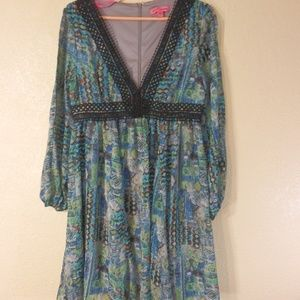 Betsey Johnson Womans Dress Long Sleeve Size 8